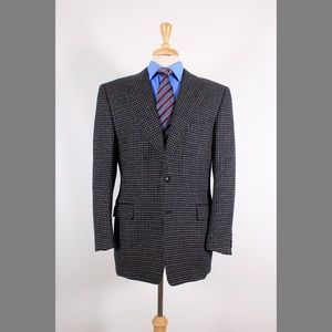 Canali 42R Black Check Wool Sport Coat 90-4